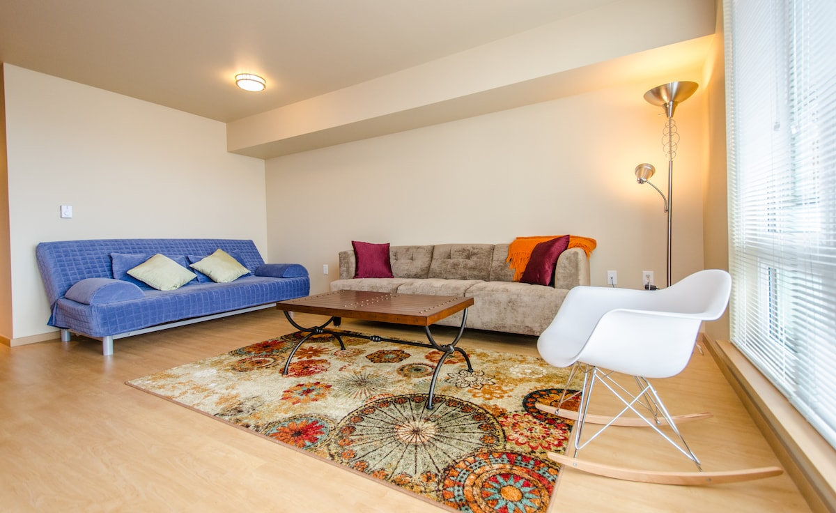 Super Comfortable, Modern Living Room - You will love to stay at our place! :)