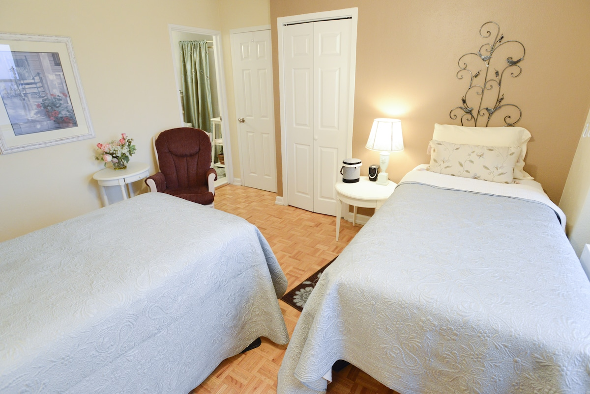 The bedrooms include all towels and linens