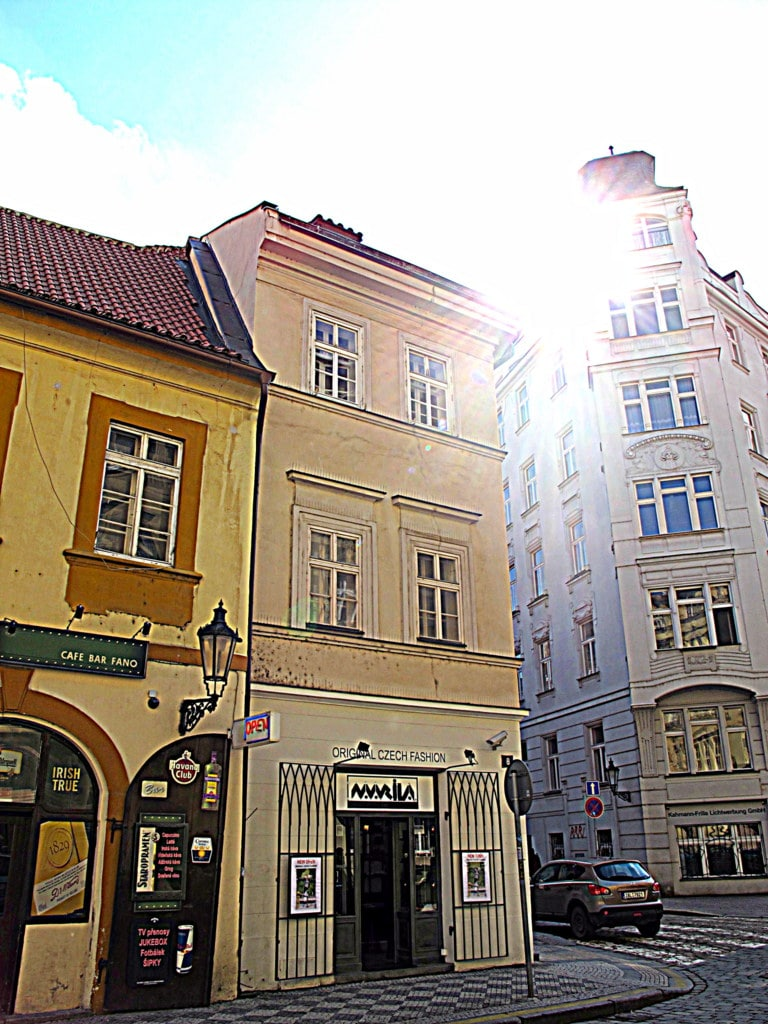 a historic house in the centre of the old town of Prague
