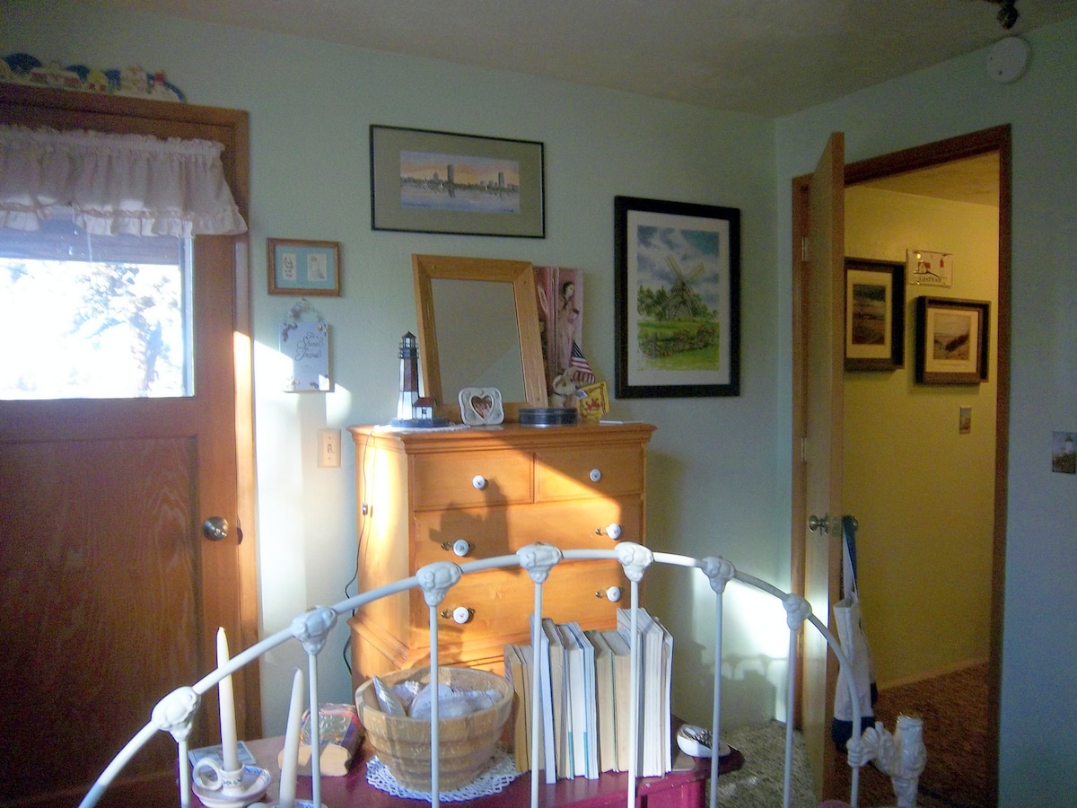 The Cape Cod Room with private entrance and it's own half bath...
