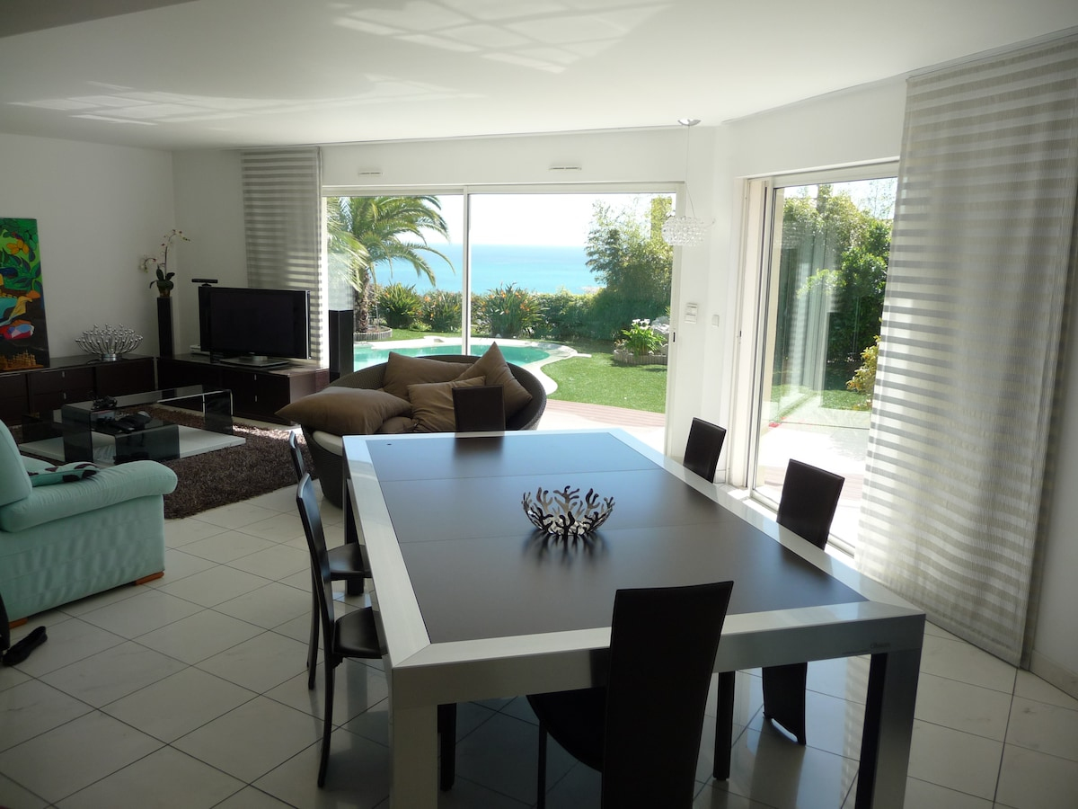 In Nice luxury villa with sea view