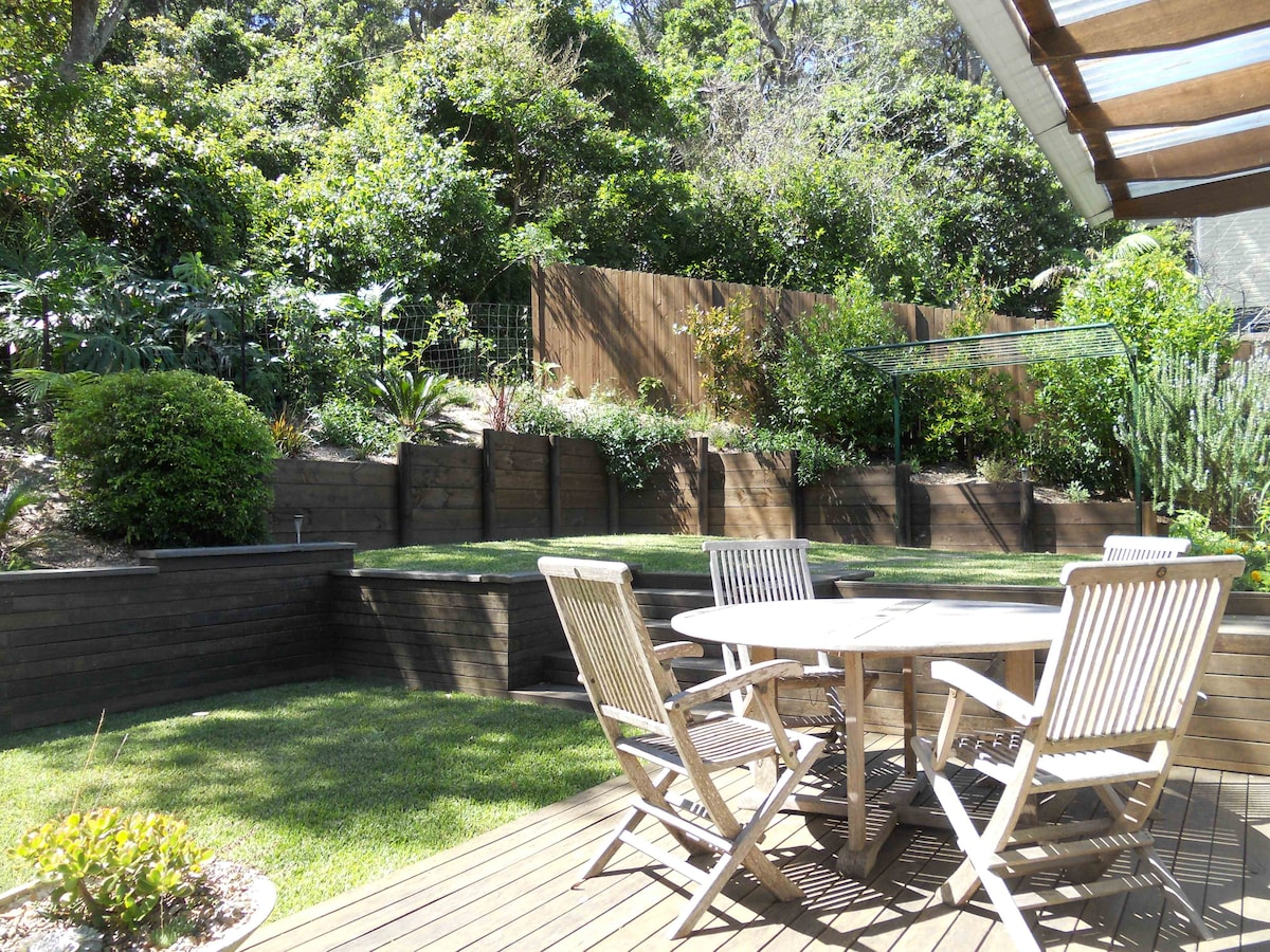 North-facing backyard with nature preserve outlook