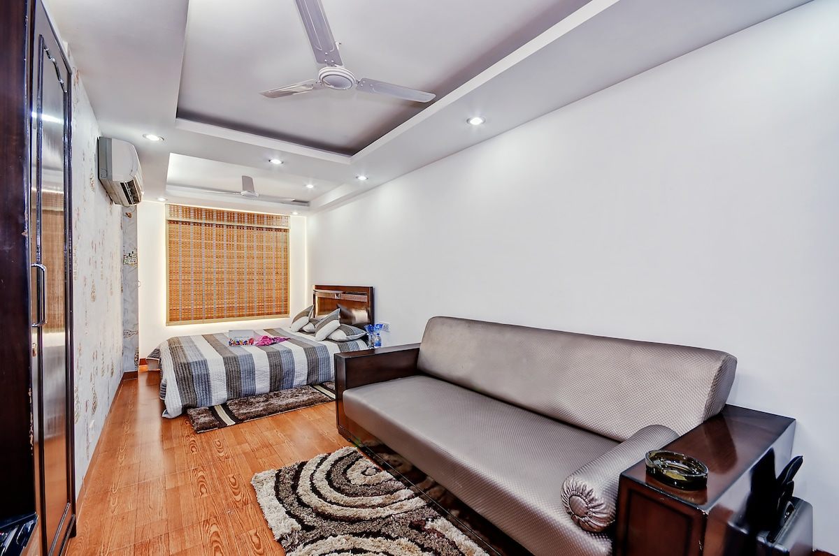 A beautiful Independent apartment with over 50 positive reviews in posh Greater Kailash colony, hosted by the host with over 170 positive reviews on Airbnb only.