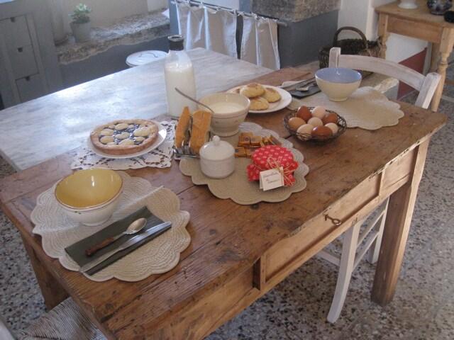 La Casetta: colazione con i prodotti dell'azienda.