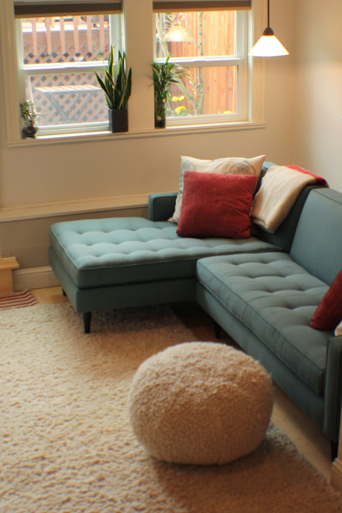 The sectional couch: room for two.