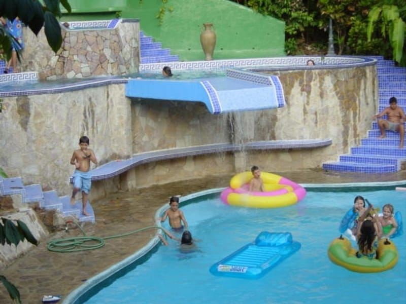 Our pool area with 3 pools is always a great playground for all ages