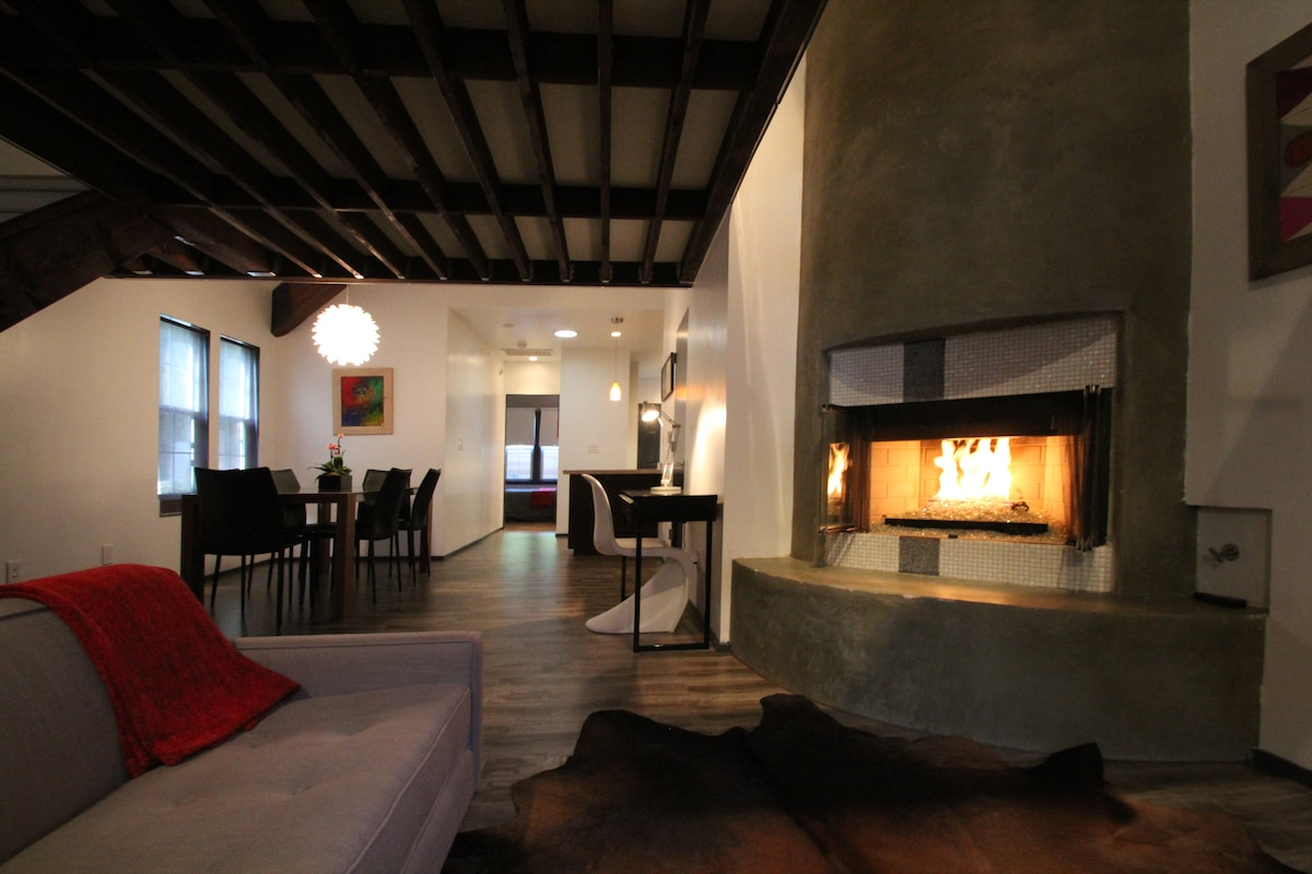 Living, Office, Dining Area... sit and relax by the fire with sparkling glass surround
