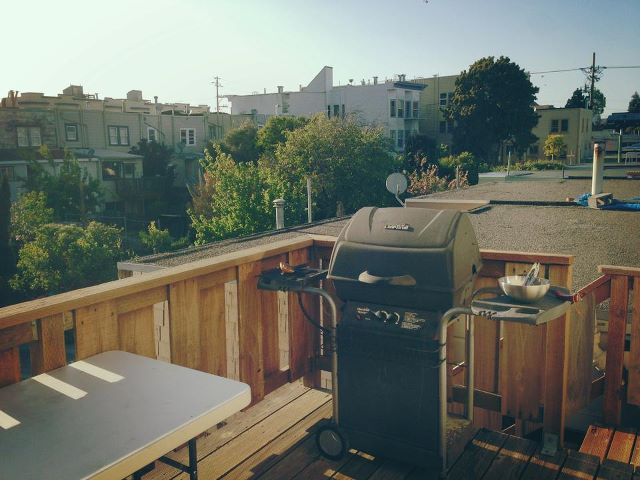 Feel free to use our Gas Barbecue.