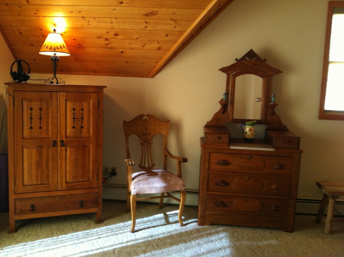 Twin Spruce (website hidden) in cabinet on left.