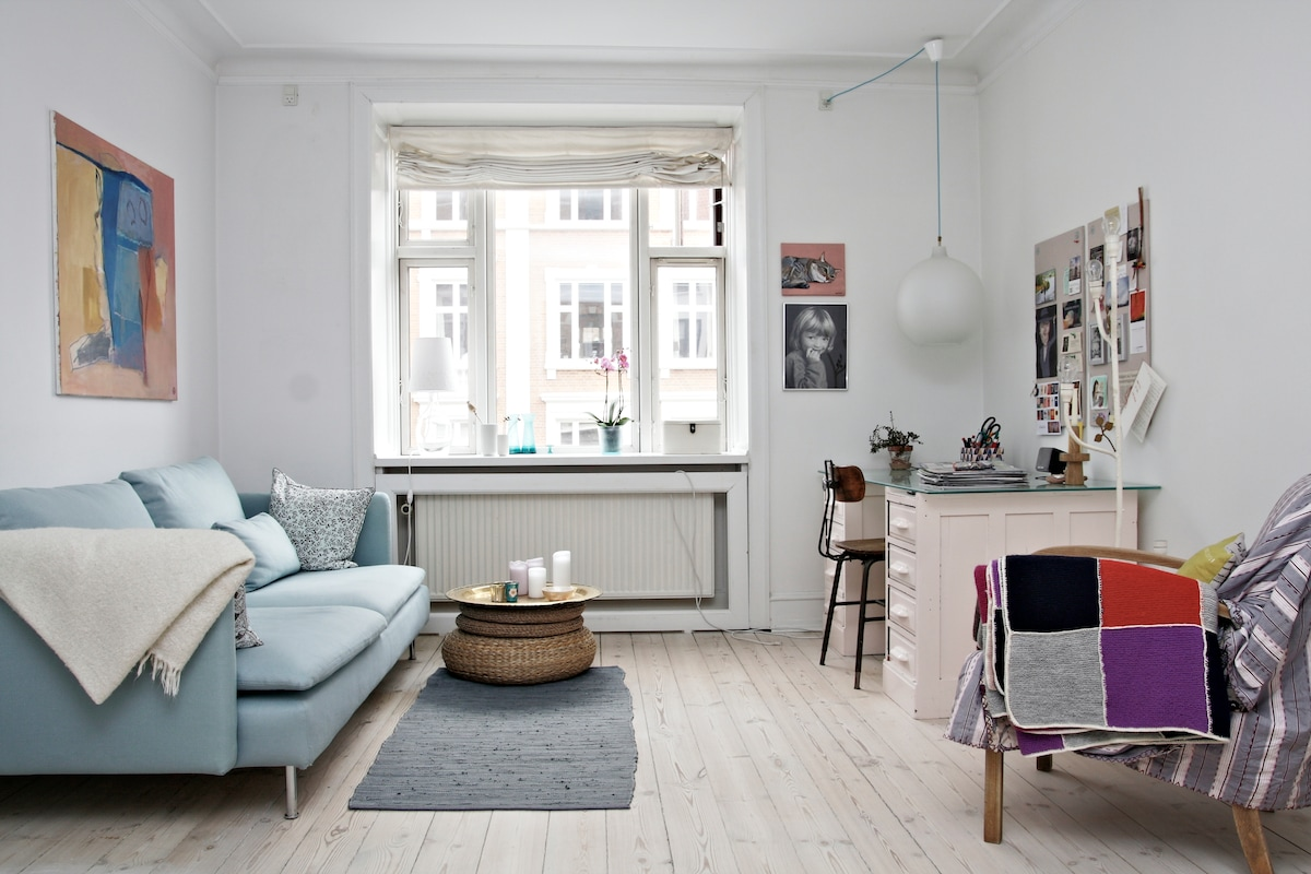 2 rooms, 1 bike, in lovely Østerbro