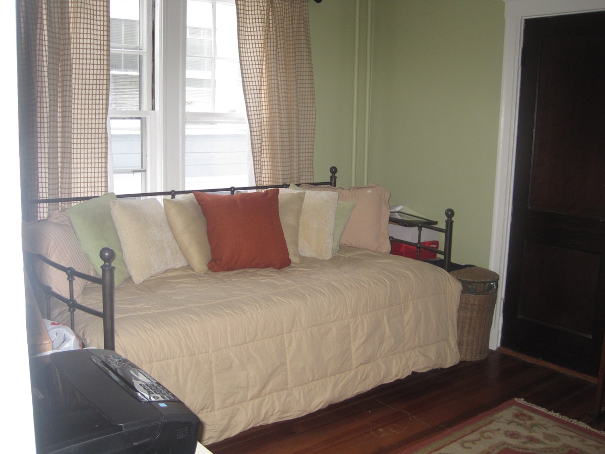 Your bedroom, trundle bed for 2
