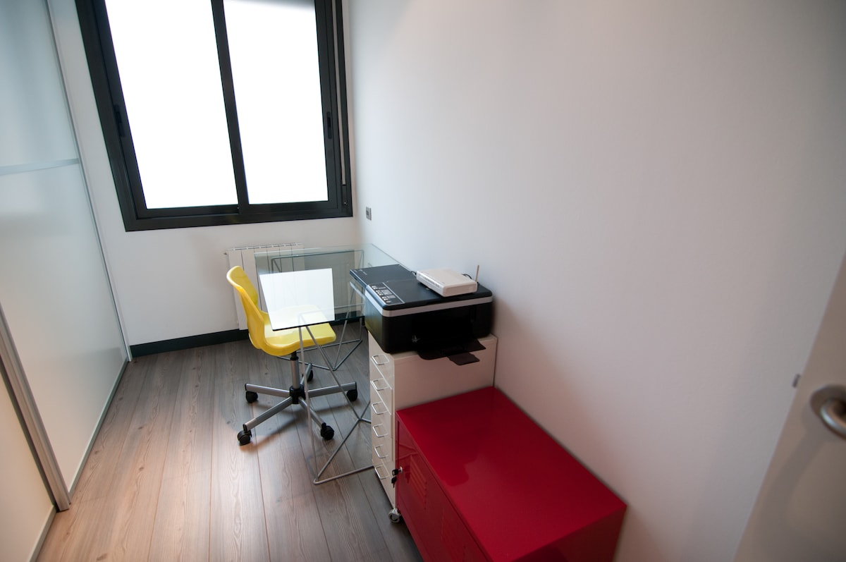 office connected to bedroom