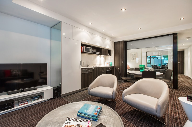 open plan living, dining & kitchen zone