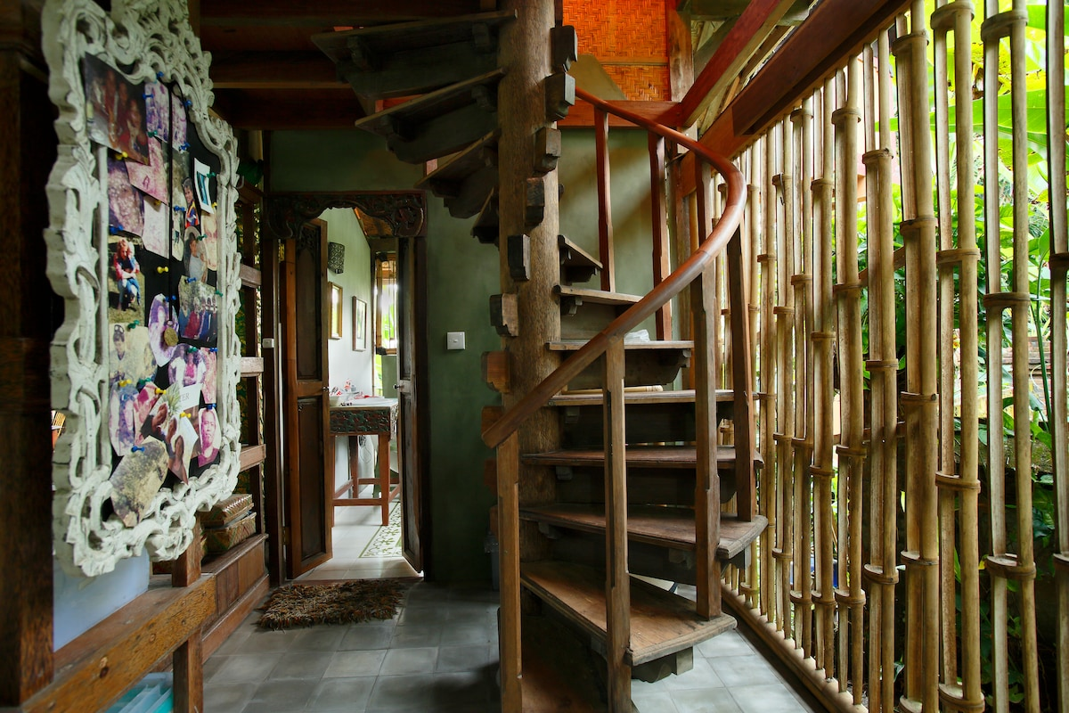 Your Private Loft is tucked away up the spiiral staircase. Totally hidden.
