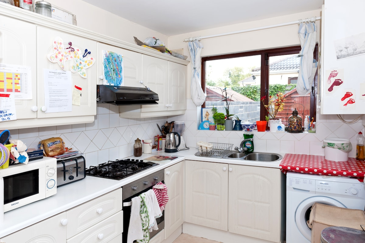 This is our sunny kitchen, it is always the busiest room in our house!