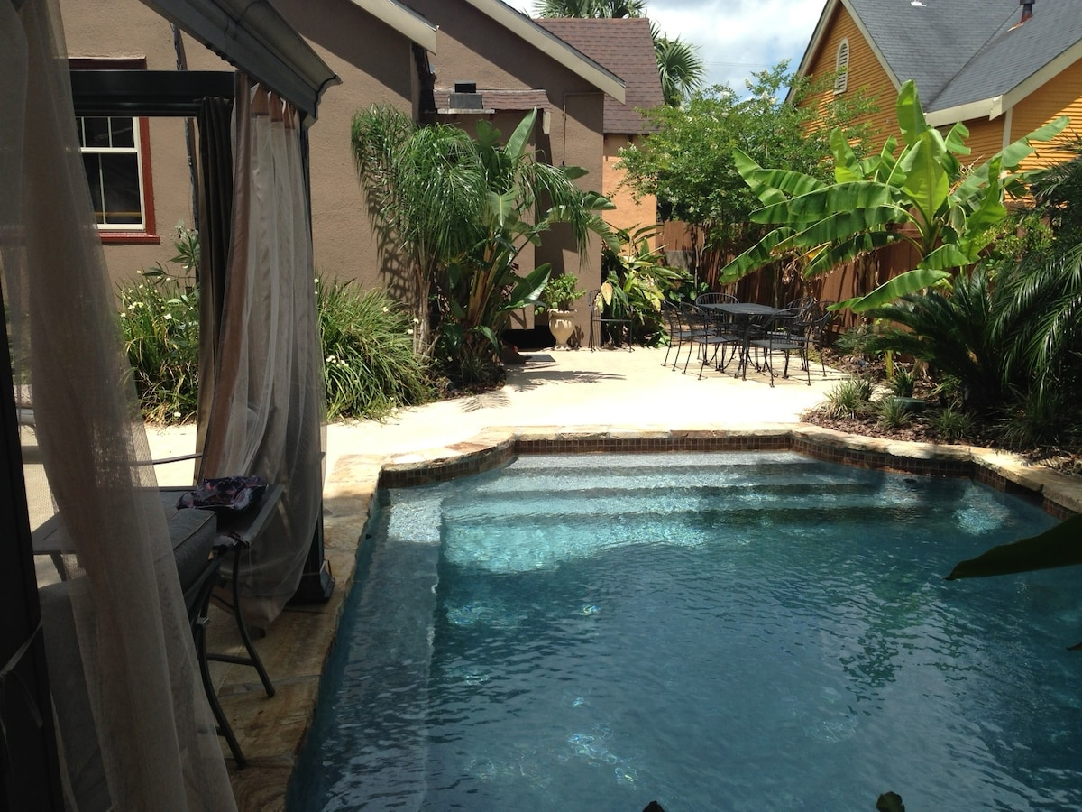 View of the pool facing the rear of the house.
