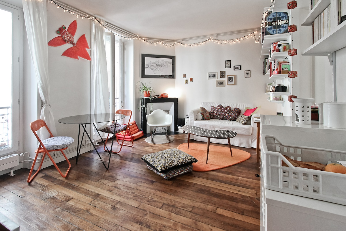 Lovely 2 rooms in the 18th- Paris