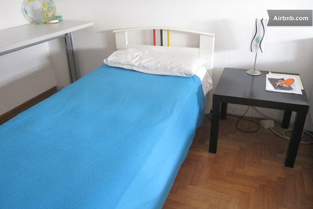 for you: single bed - desk - closet - table / depending on the day might be this or other bed