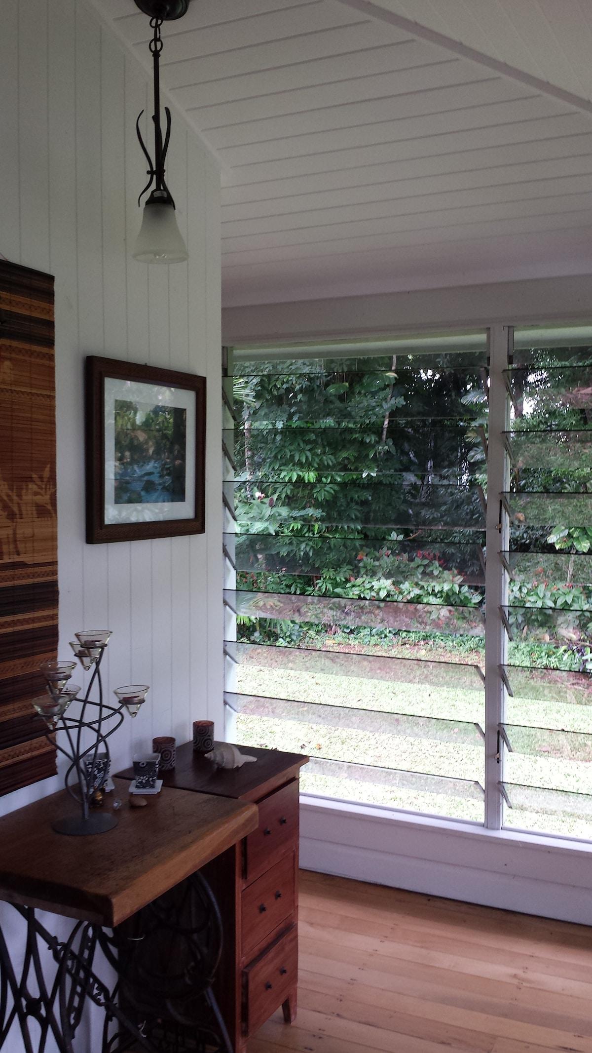 Queenslander Home with cross breezes Open Plan Living