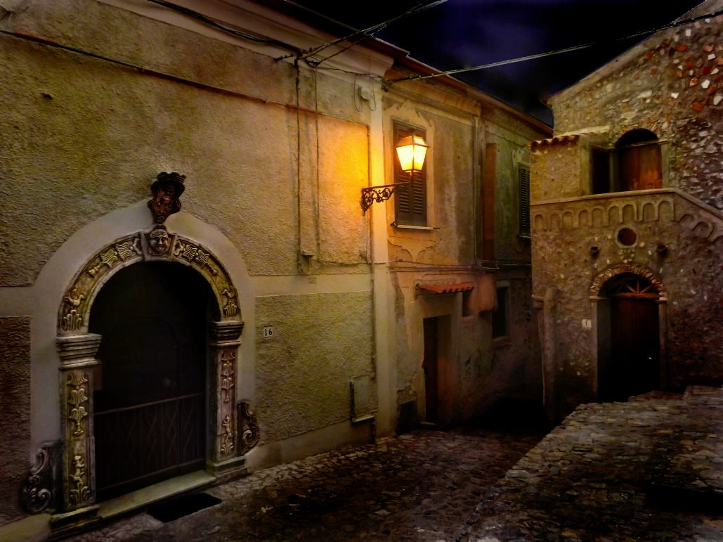 Casa Cielo in the evening.