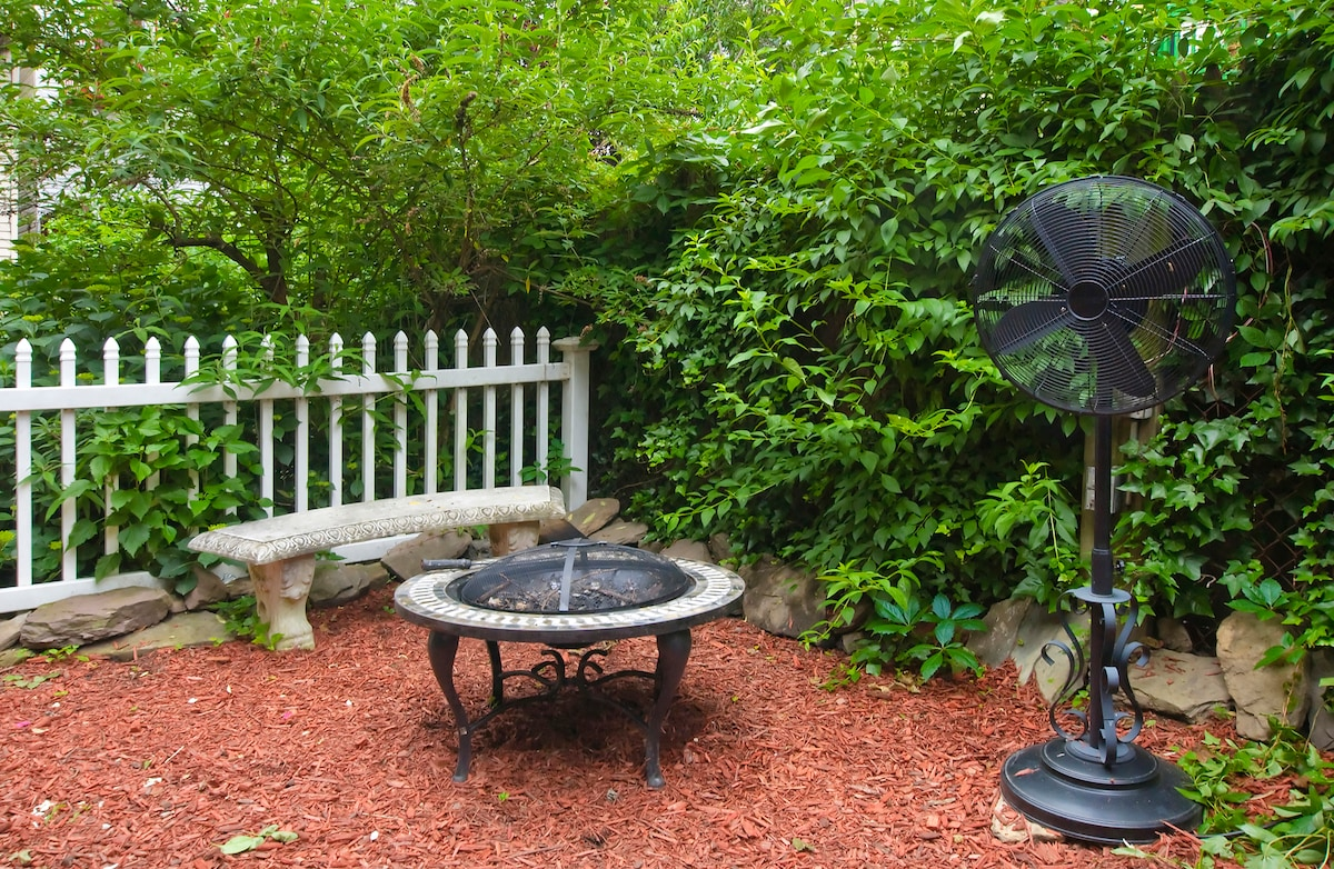 Backyard firepit if you want some relaxing time and want to stay warm in the Spring or Autumn.