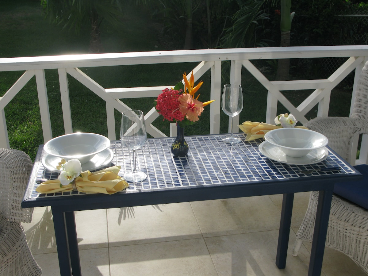Dining on the deck