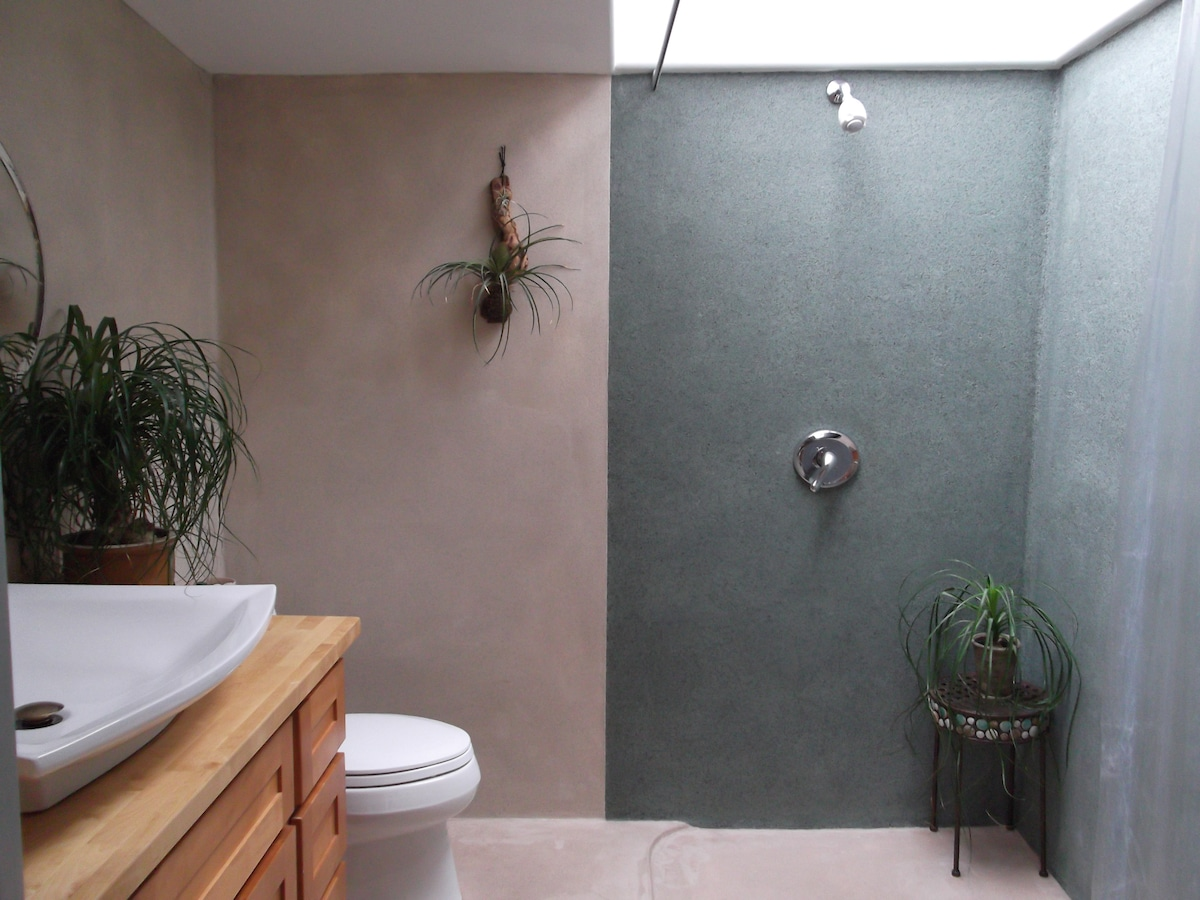 The shower is amazing… it has an Open-Air Sky View window and the shower is very large...