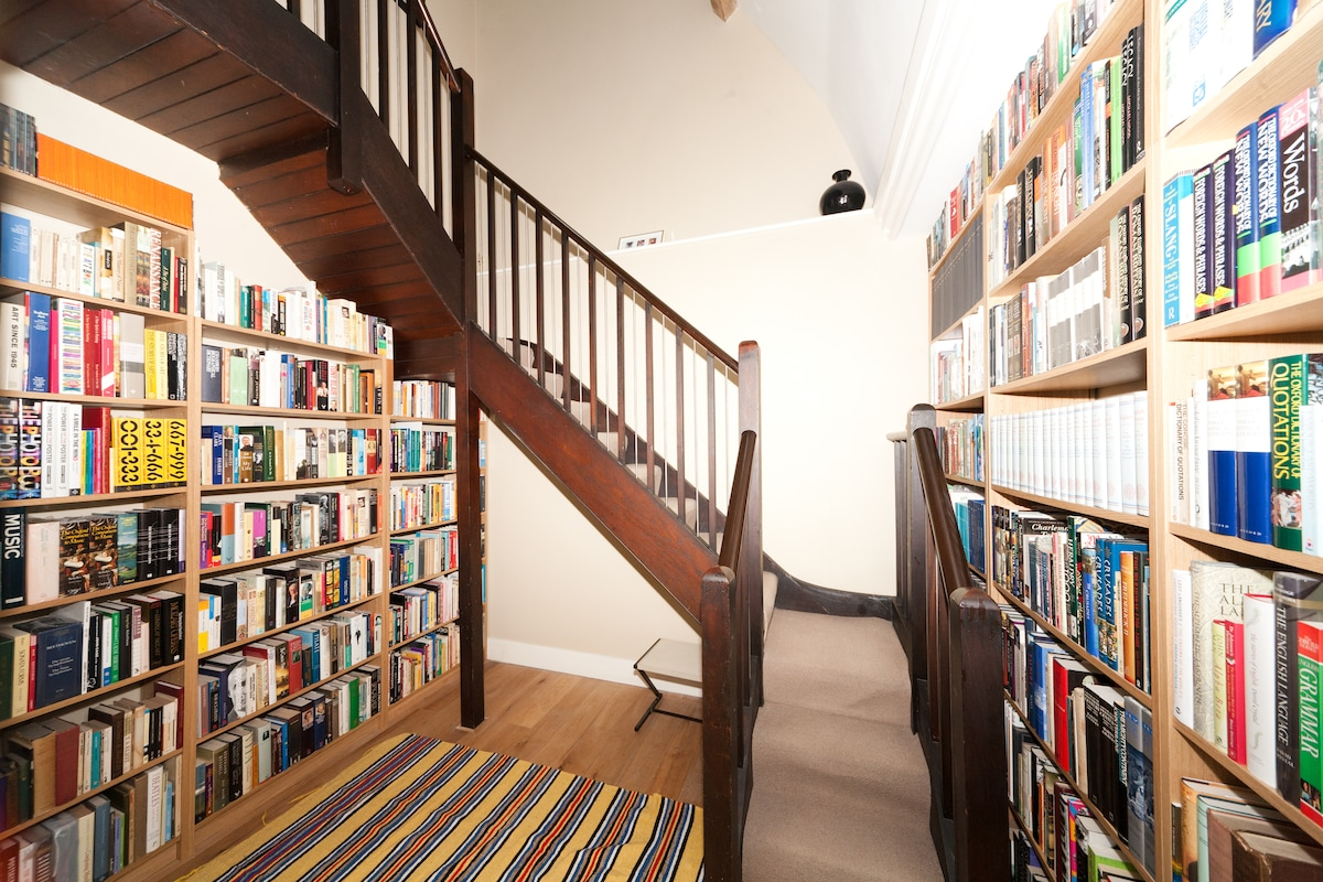 Staircase and Library