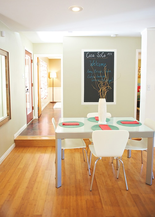 Dining area, table pulls out to seat 8