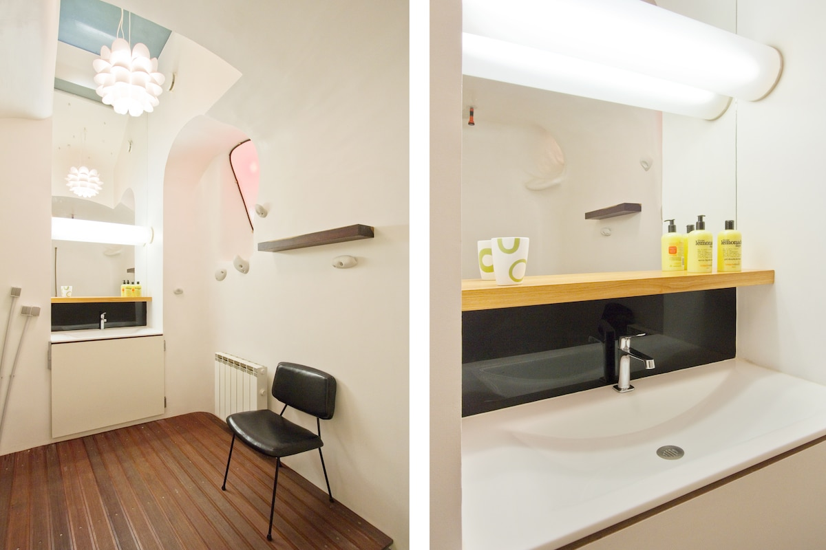 very high ceiling in your bathroom