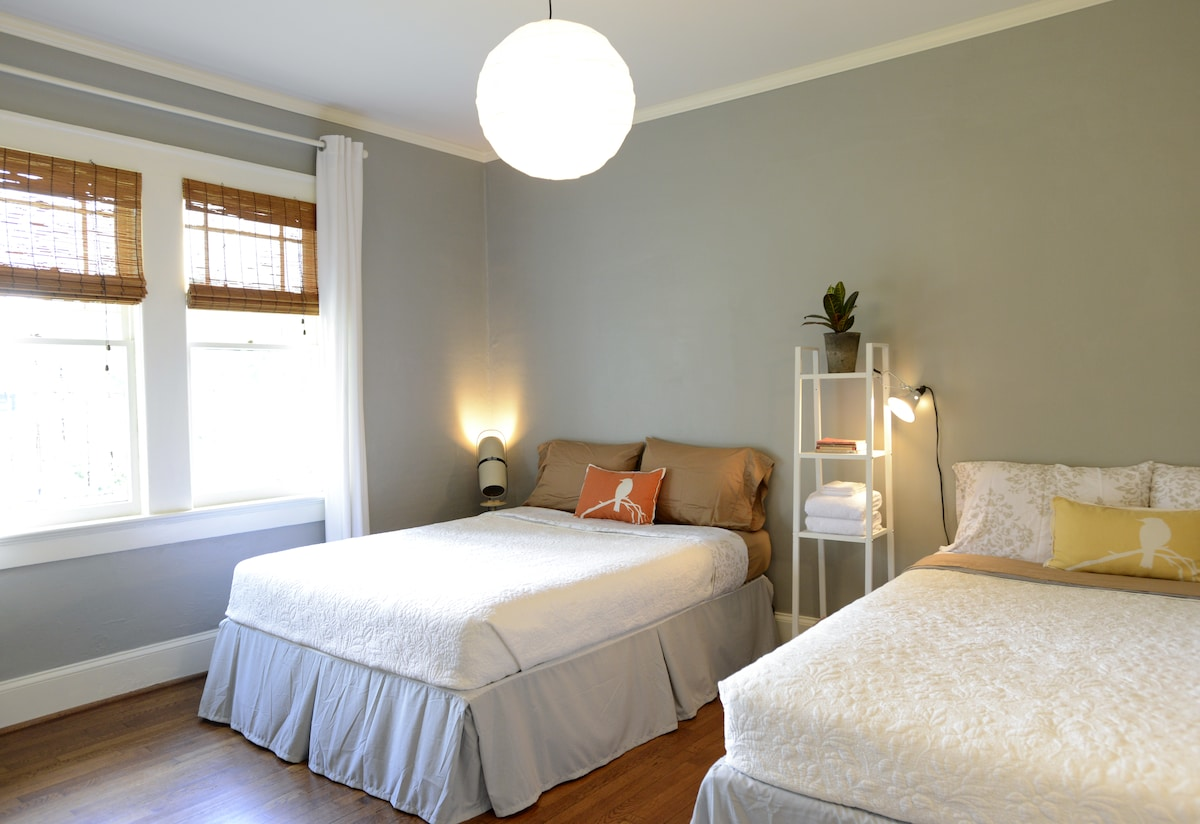 Huge Private Room with 2 Queen Beds