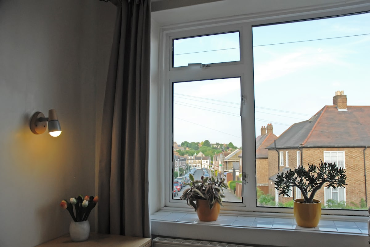 view towards street - light and airy room