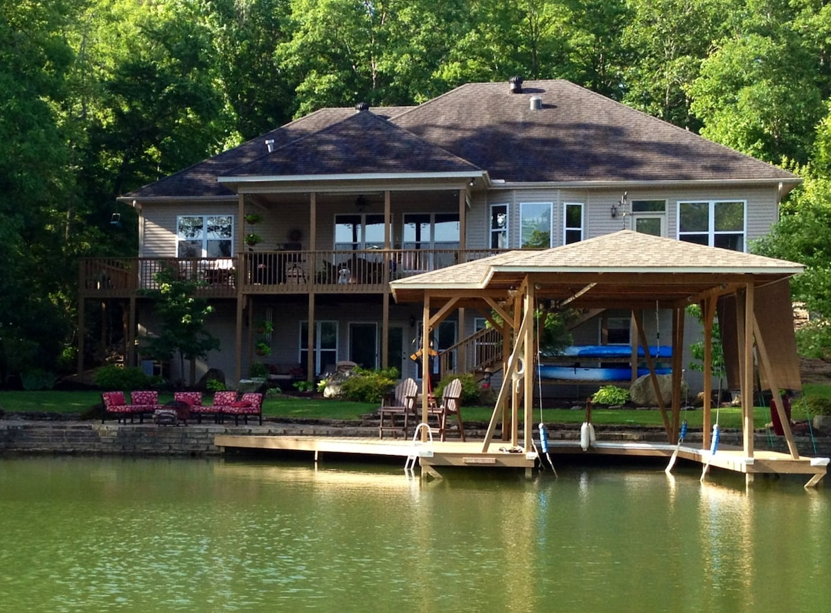 View of our home from the lake.