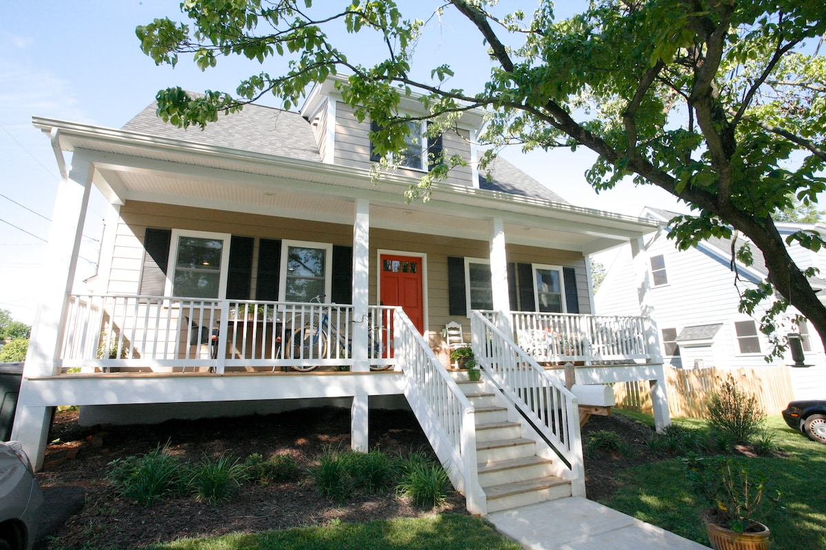 front of cape cod with lovely front porch