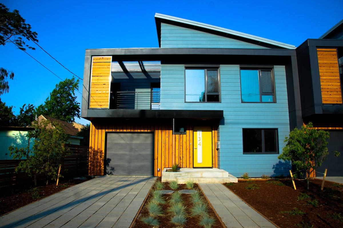 Modern net zero passive house in portland for Modern house portland
