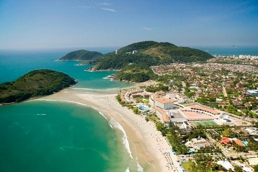 Pernambuco beach air view over sea