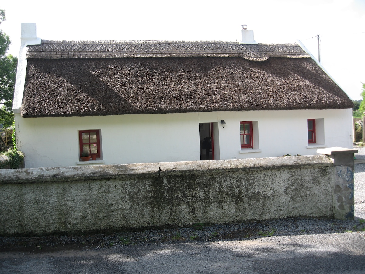 Connemara thatched cottage,Galway