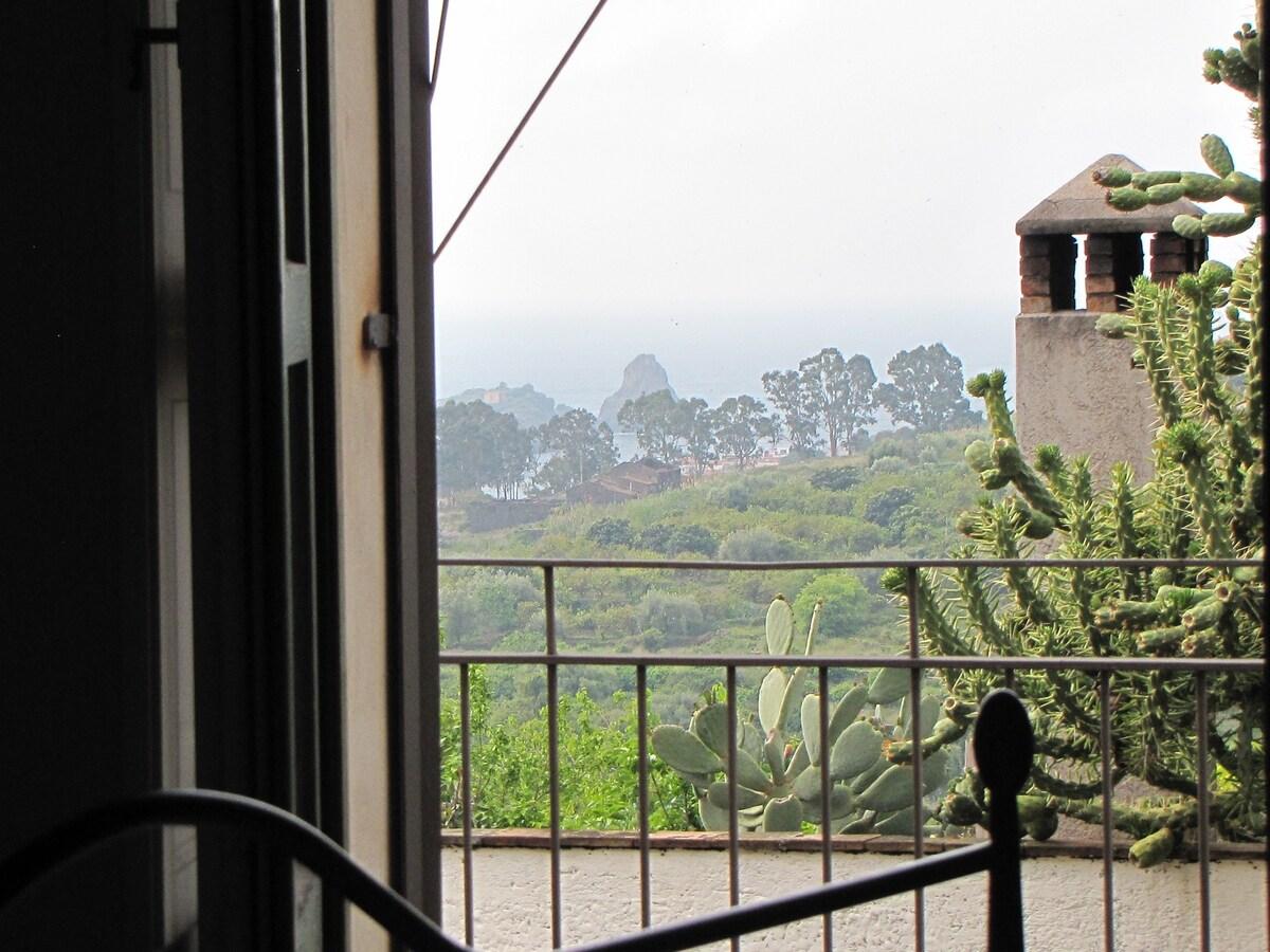 vista dalla camera da letto, dell'isola Lachea.