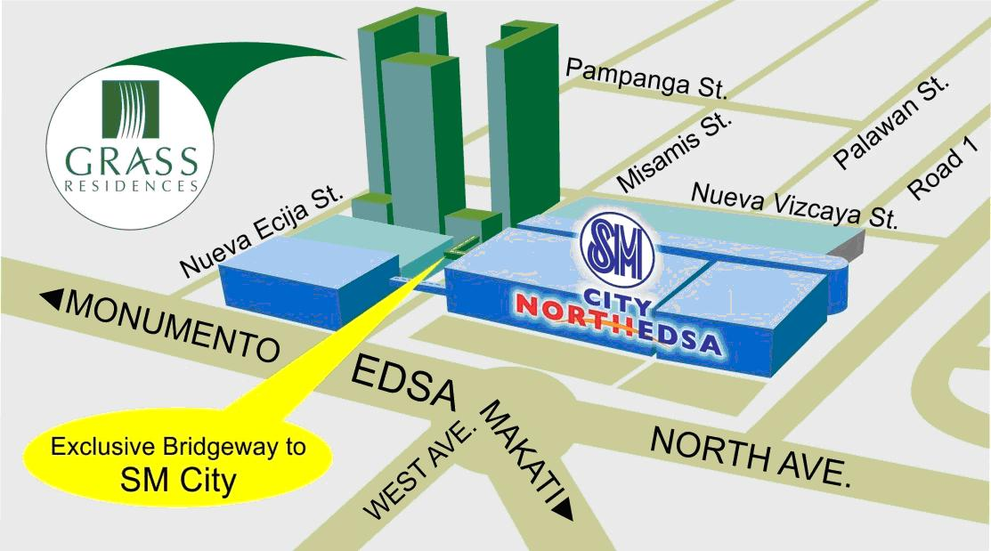 1 BR SM Grass Residences near MRT
