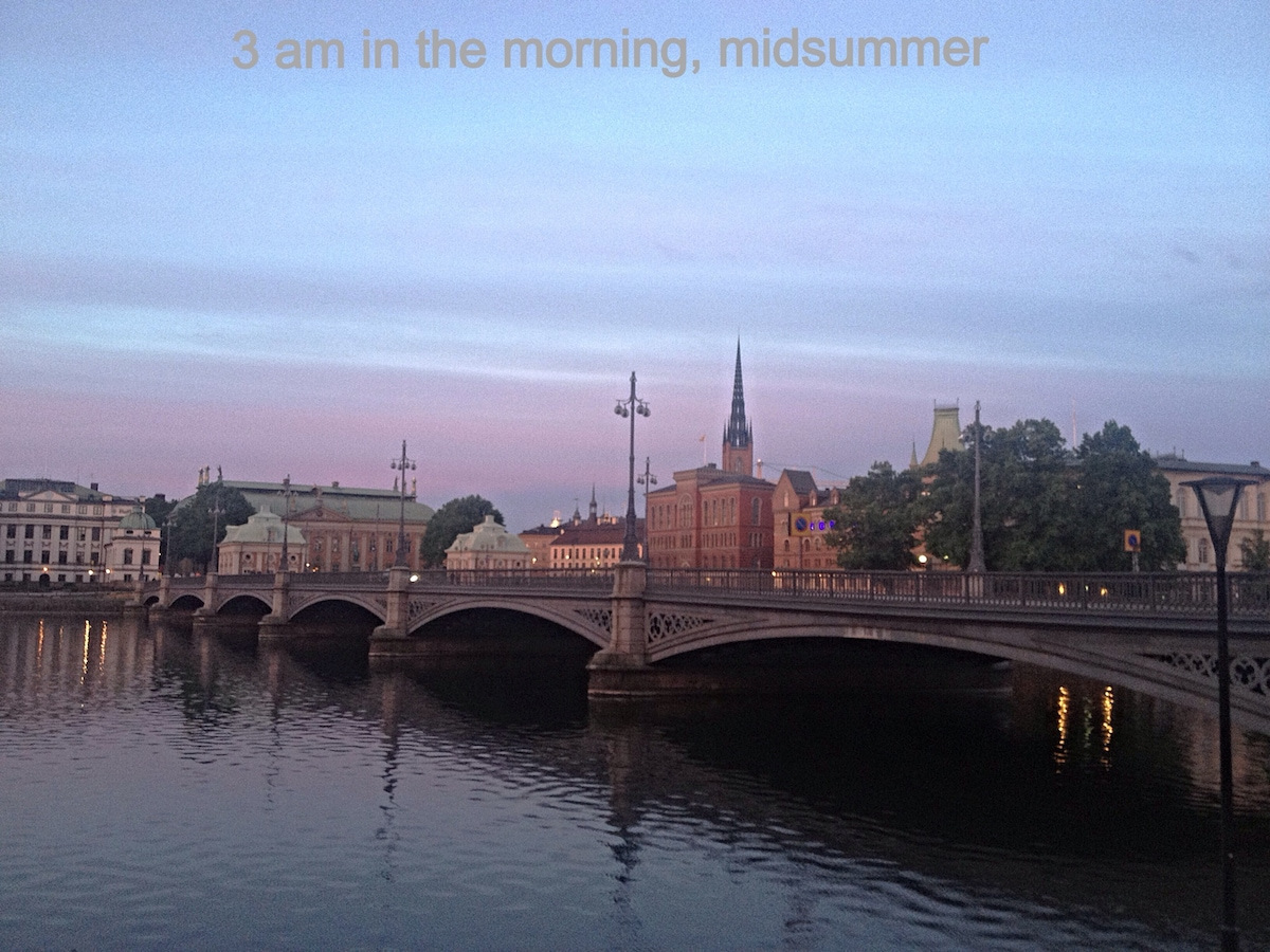Scenery at 3 am July, the true magic of Stockholm...