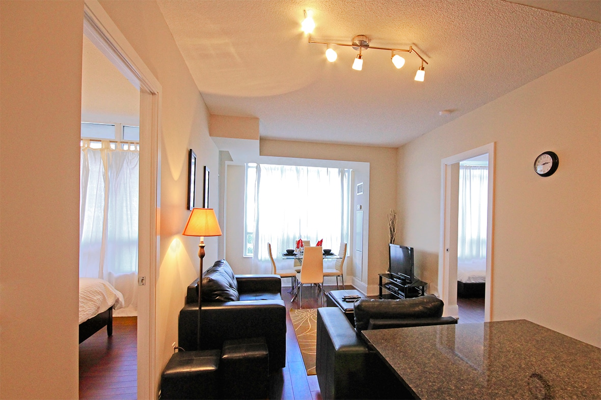 A picture of the lounge in our fully furnished luxury suite.