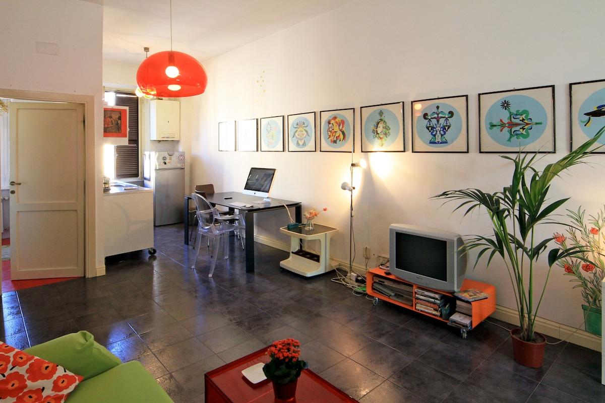 Stylish studio flat in San Lorenzo