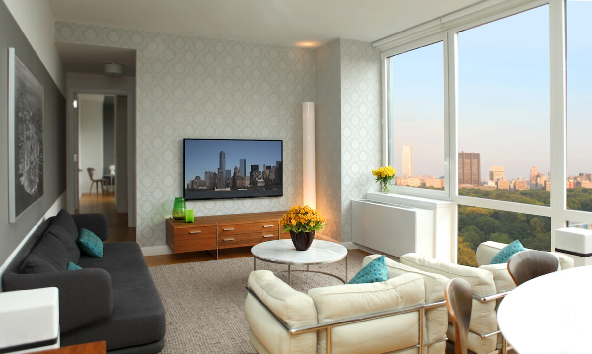 Living room with Central Park view