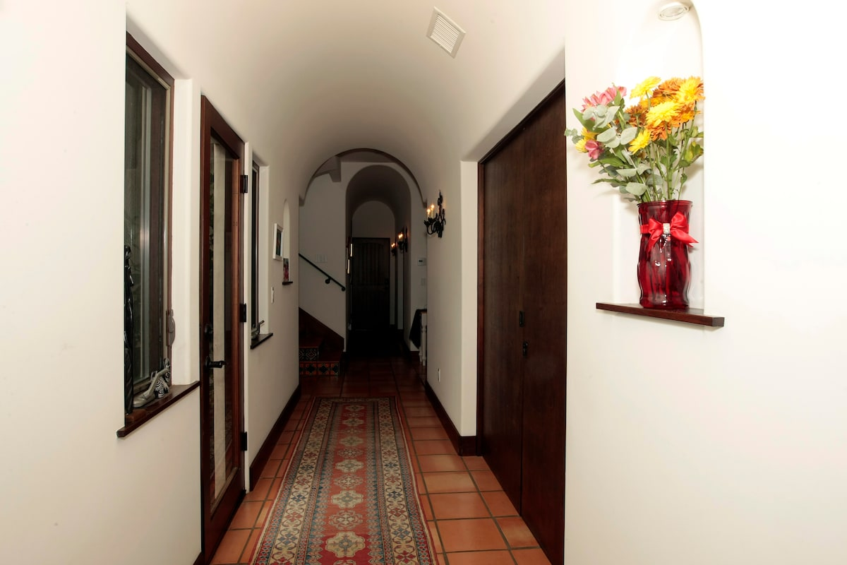 Hallway to your suite. Quiet part of the house. Yes, those are fresh flowers.