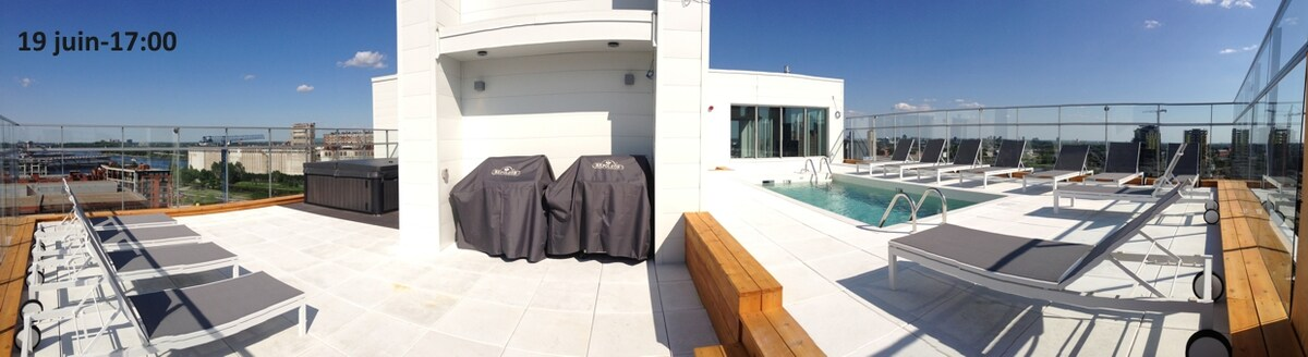 Rooftop Terrace (Pool, Hot Tub, BBQs)