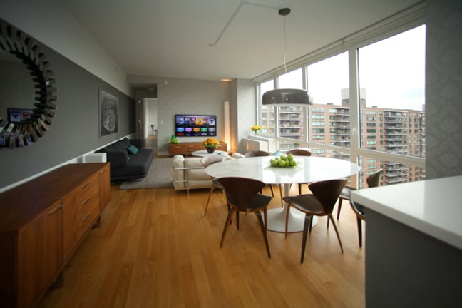 Living and Dining room with Central Park view