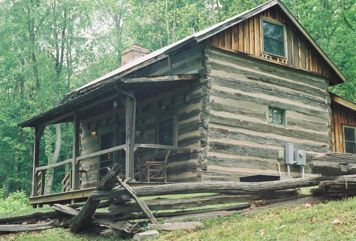 Adventure in c.1775 Log Cabin!
