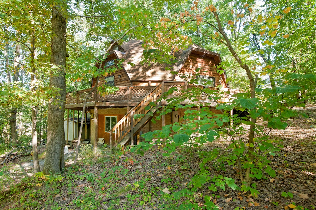 The dome sits on 3 acres in the hills above the Shenandoah river... Shenandoah river