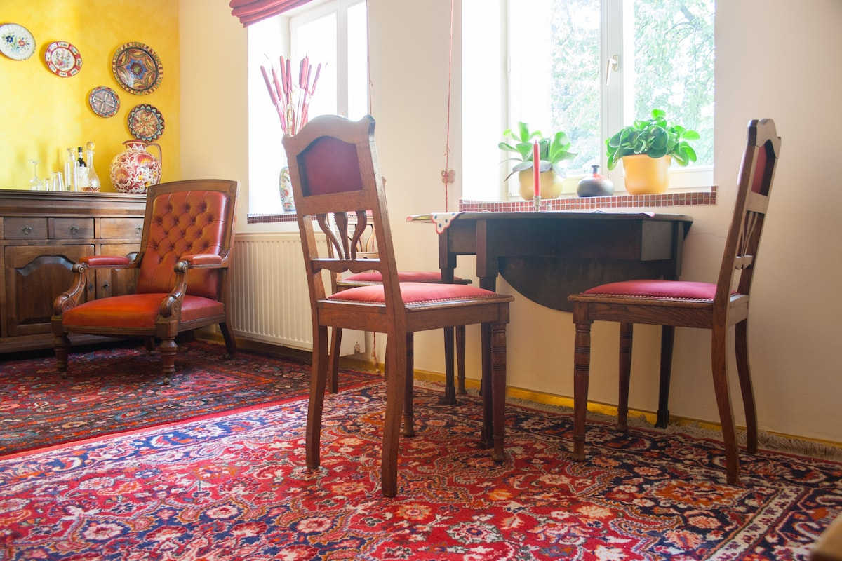 Your room - Persian carpets and antiques - garden view