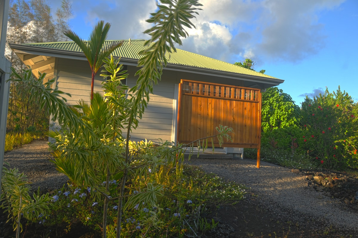 Your entrance to the cottage - late afternoon sky